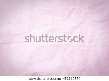 Vintage Pink Color Paper Texture Background Creased Concept
