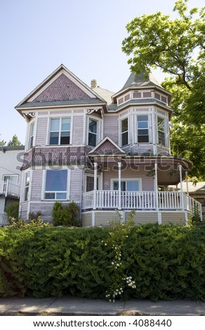 Vintage Pink Victorian Style House Need Stock Photo Edit Now - How-to-paint-a-victorian-style-home