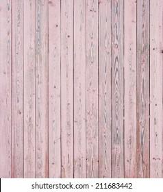 Vintage Pink Wood Planks