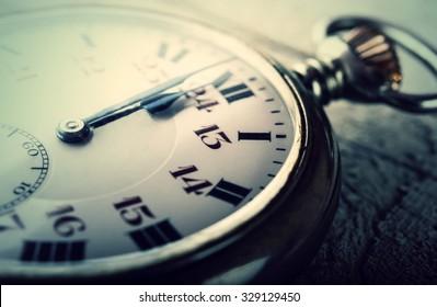 vintage pocket watch clock striking midnight happy new year 2016