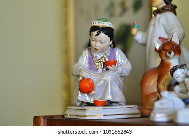Vintage Russia Soviet Vintage Porcelain Figurine 1950 Red Army Socialist Realism