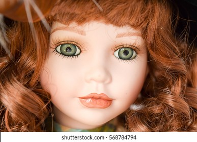 Vintage porcelain toy doll collection with girl face