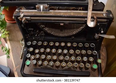 Vintage portable German Typewriter.