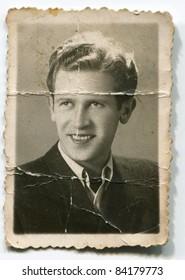 Vintage portrait of man (forties)
