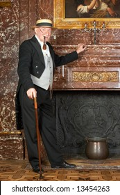 "Vintage portrait of a victorian gentleman. Shot in the antique castle ""Den Brandt"" in Antwerp, Belgium (with signed property release for the Castle interiors)."