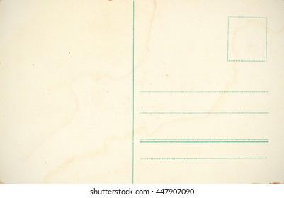 Vintage postcard back blank. Instagram effect added