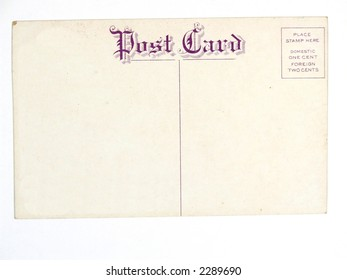 Vintage postcard. Collectible mail related object. Antique.