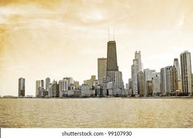 Vintage Postcard Design - Chicago