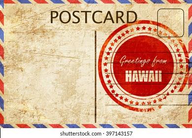 Vintage postcard Greetings from hawaii