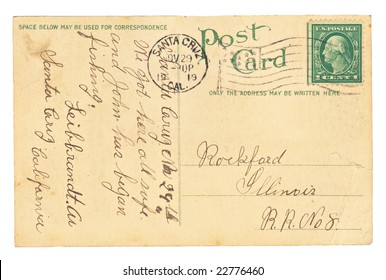 Vintage postcard sent from Santa Cruz, California.