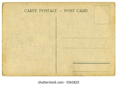 vintage postcard - space for text, isolated on white