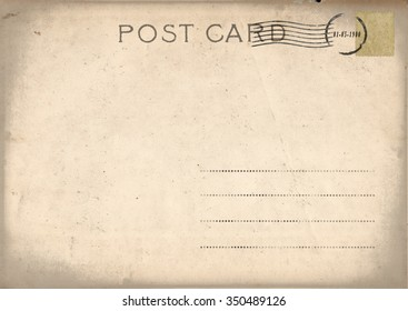 Vintage postcard with stamp