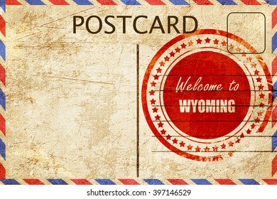 Vintage postcard Welcome to wyoming