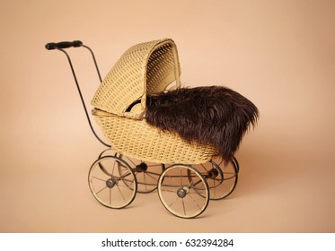 Vintage Pram Baby Carriage background for newborn and baby photography