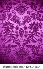 vintage purple damask fabric background