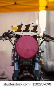 Vintage racing motorbike