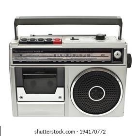 vintage radio isolated on white