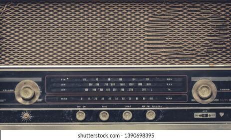 Vintage Radio Music Player Control Panel