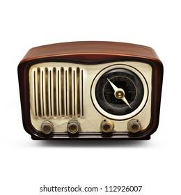 Vintage Radio on a dark background