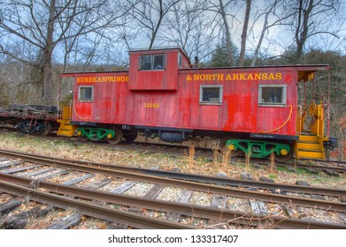 Vintage railroad caboose from a bygone era.
