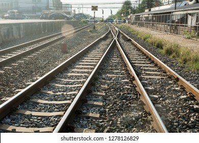 Vintage railroad, Railway junction. Heavy industry. Railway stations. Cargo shipping