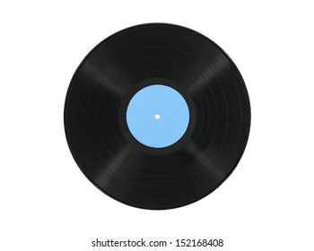 Vintage record album isolated with clipping path.