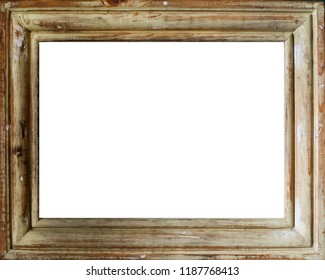 Vintage rectangular wooden frame with copy space in the middle.