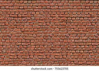 Vintage red brick wall texture, old red brick wall