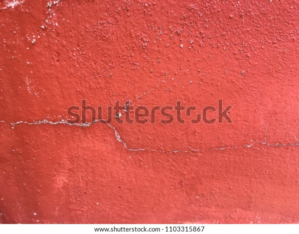 Vintage red cement wall background