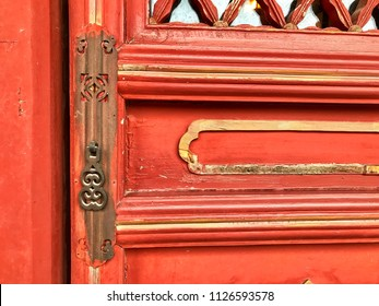 Vintage red door Chinese style background