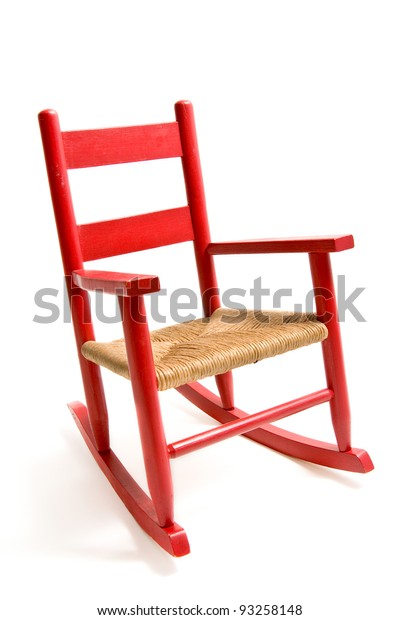 Sensational Vintage Refurbished Wooden Childs Rocking Chair Stock Photo Beatyapartments Chair Design Images Beatyapartmentscom