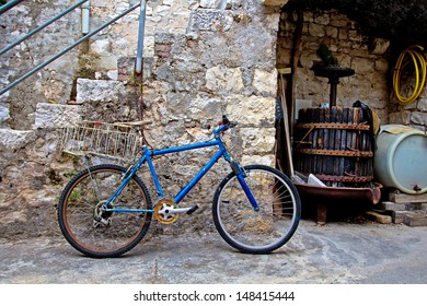 Vintage Retro Bicycle. High quality stock photo.