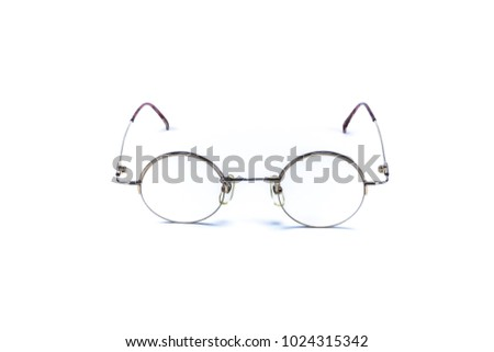 Vintage round glasses isolated