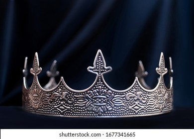Vintage royal crown for man, jewellery. Concept of power and wealth