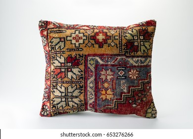 Vintage rug pillow