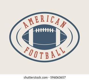 Vintage rugby and american football label, emblem or logo. Graphic Design. Illustration