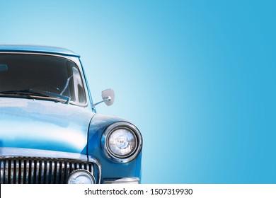 Vintage Russian blue Car, Sedan