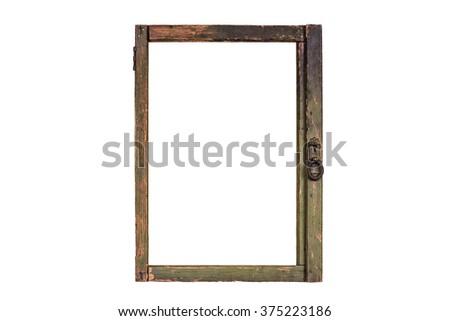 Vintage Rustic Window Frame Stock Photo (Edit Now) 375223186 ...