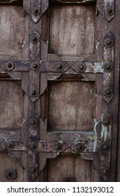 vintage rustic wood and metal door Baja, Mexico