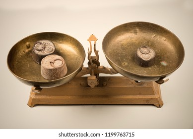 Vintage scale and weights
