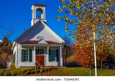 Vintage School House With Bell
