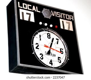 vintage scoreboard