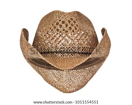 b2516bda736fa Vintage Seagrass Straw Latin American Cowboy Stock Photo (Edit Now ...