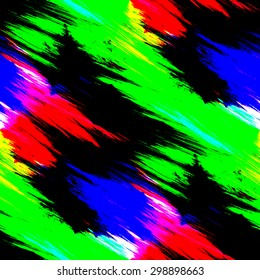 Vintage seamless abstract colorful red, black, blue and green line illustration background