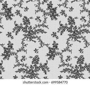 vintage seamless floral lace ornament