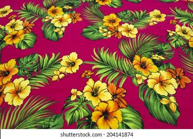 vintage seamless tropical flowers