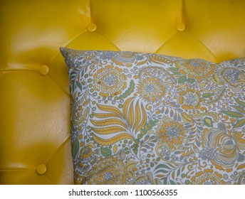 Vintage seat and pillow.