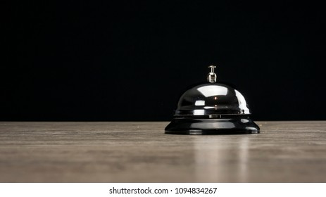 Vintage service bell close up on table