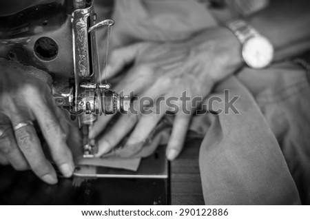 Vintage Sewing Machine On Hand Fashion Stock Photo Edit Now Extraordinary Sun Hand Sewing Machine