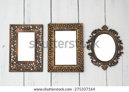 Vintage Shabby Chic Photo Frame Set Stock Photo Edit Now 275337164